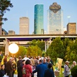 Buffalo Bayou Partnership Gala, November 2012, Guests strolling along Sabine Promenade