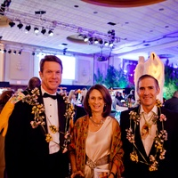 7 Guy Hagstette, from left, Sis Johnson and Doug Lawing at the Orange Show Gala November 2014