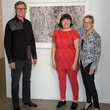 Artist Reinhard Ziegler, Danette Dufilho, Nancy Whitenack , Conduit Gallery owner, affair of the art kickoff