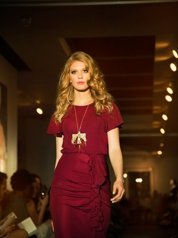 David Peck fashion show model on runway October 2014