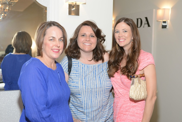 5 Cathy Amoruso, from left, Jenny Johanson and  Noteel Koss at the Brush & Blush Blow Dry Bar party June 2014