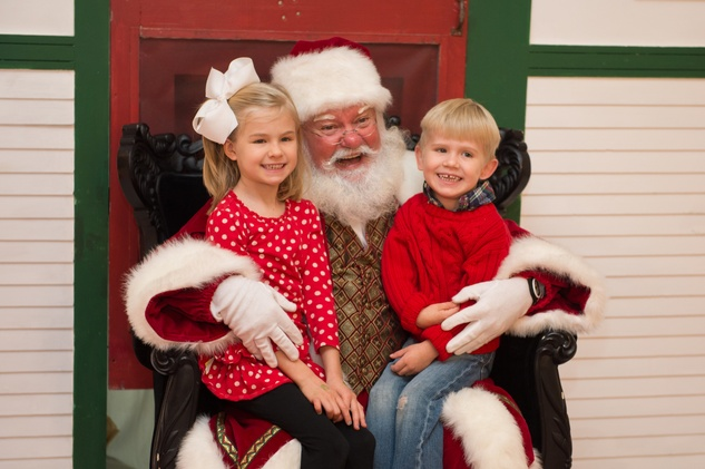 2 Anna Wolf and Blake Wolf with Santa at the M.D. Anderson Breakfast with Santa December 2014