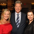 Anne Carl, from left, Bobby Dees and Sylvia Forsyth at the Gucci Alley Theatre cocktail party October 2013