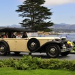 News, Shelby, Pebble Beach Concours d'Elegance,   August 2014, Nancy Pustka, Evelyn Fasnacht (driving); back: Cathy Brock, Randa Weiner