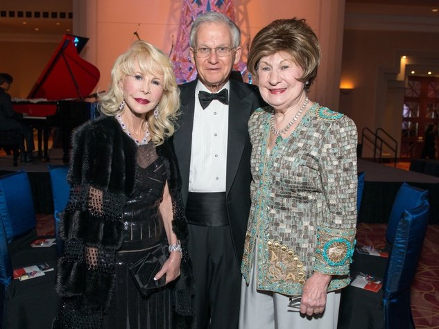 14 Diane Lokey Farb, left, with Harry and Cora Sue Mach at the Moores School Gala March 2015