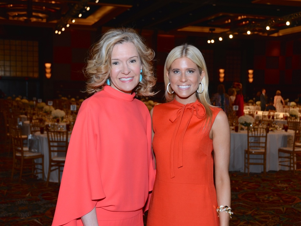 3 Katie Brass, left, and Ali Fields at the Best Dressed luncheon March 2015