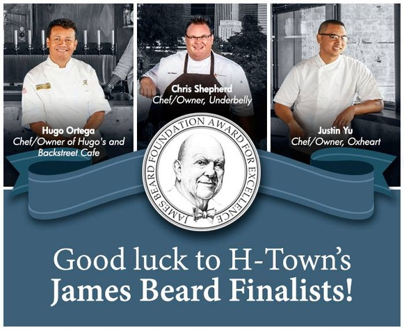 Houston James Beard Awards good luck flyer