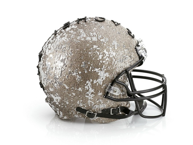 Rachel Zoe helmet for Bloomingdale's Fashion Touchdown