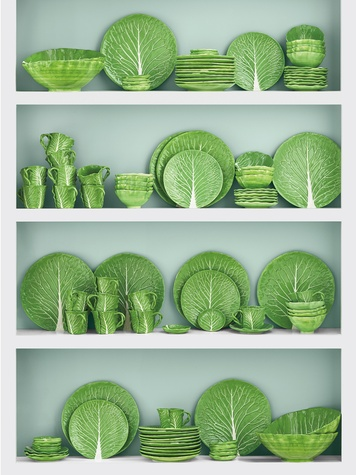 Tory Burch lettuce and cabbage collection March 2015 on shelves
