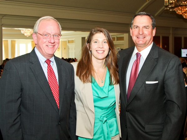 News_Menninger luncheon_May 2012_Councilman Mike Sullivan_Liz Newlin_Pete DeLongchamps