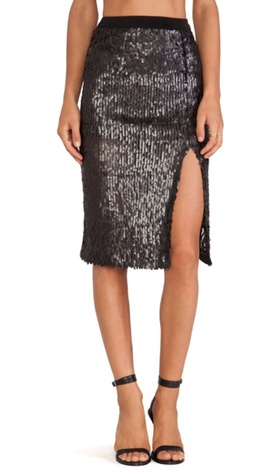 Joa sequin skirt
