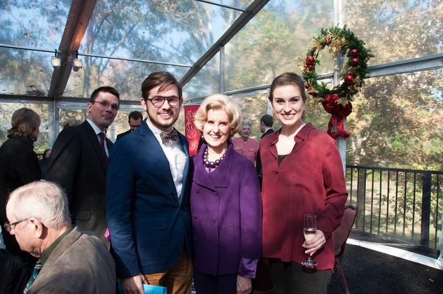 10 Christopher James Ray, from left, Terry Lin G. Neale and Mary Beth Nelson at the ROCO Yuletide Concert at Bayou Bend December 2014