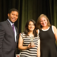 1310 Spencer Tillman, from left, Naz Diamond and Cynthia Cisneros at the Career and Recovery Luncheon July 2014