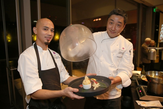 132 Name, left, and Donald Chang at the Asia Society Texas Center Kobe beef Cook-off December 2014
