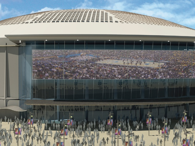 Astrodome rendering Harris County Sports and Convention Corp