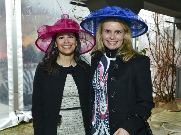 8 Kristy Bradshaw, left, and Valerie Dieterich at Hats in the Park March 2014