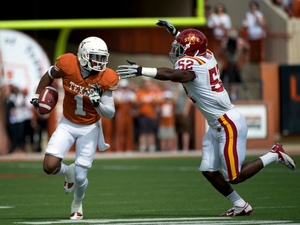 Texas Longhorn Mike Davis against Iowa State