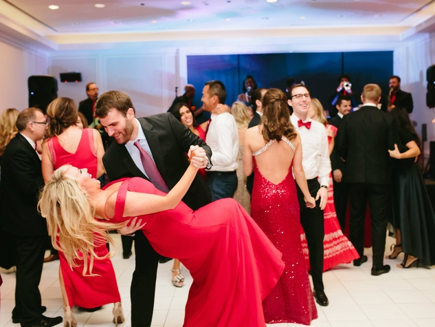 Partygoers dance the night away at the Rhapsody in Red gala