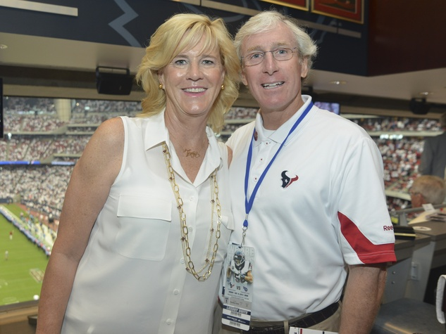 5 Texans owner's suite home opening game September 2013 Laurie Kimble, Clark Kimble