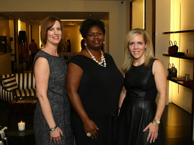 Laura Johnson, Benaye Rogers, CONTACT Executive Director and Leigh Anne Haugh , Event Chair, sprit of contact