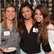 Sara Hansen, from left, Alicia Hou and Alexandra Barney at Casa de Esperanza Young Professionals party July 2014