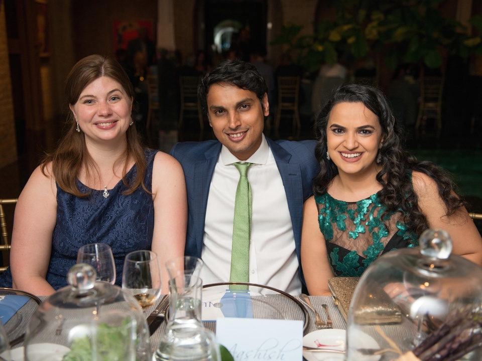 Erin Parekh, Aashish Parekh, Puja Parekh at Recipe for Success dinner