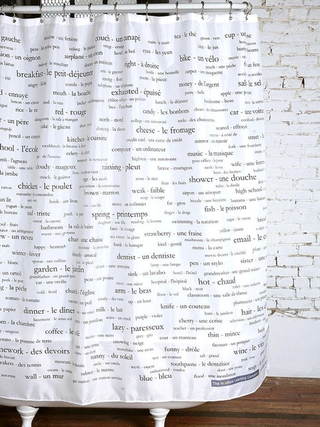 french shower curtain
