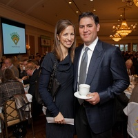 2 Cara and Lance Berkman at the SpringSpirit Baseball Breakfast February 2014