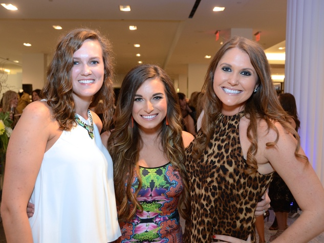 3 Jill Parker, from left, Ashley Appling and Alana Skinner at Fresh Faces of Fashion event at Tootsies September 2014