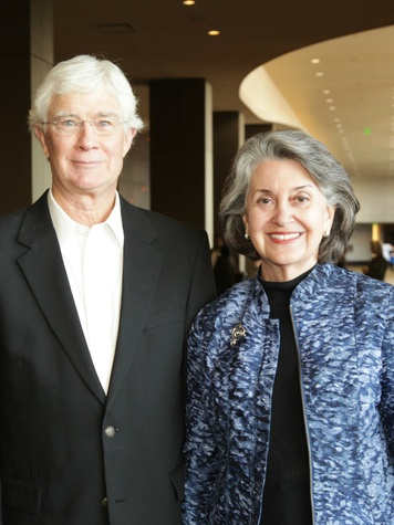Larry Sykes, Becky Sykes, Stewpot Luncheon