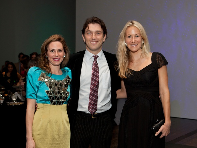 1 Capera and Igor Norinsky, from left, with Melissa Tuckerman at the Menil Young Professionals party December 2013