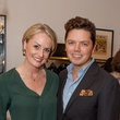 Julie R. O'Neal and David Peck at the Julie Rhodes Fashion & Home Houston opening party October 2013