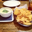 Beaver's Houston chips and queso with iced tea
