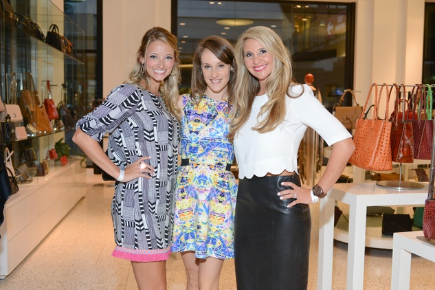 33 Amy Mire, from left, Inge Kellermann and Whitney Cameron at the WOW Summer Soiree August 2014
