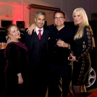 Annabelle Carillo, Lonny Soza, Carl Stomberg, Theresa Roemer at Fashion Houston preview party
