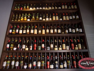 Wine selection of Coal Vines in Austin, TX.