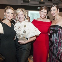 12, CAM gala, March 2013, Stephanie Cockrell, Kathryn Smith, Rosemarie Johnson, Melissa Mithoff