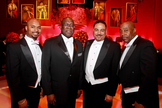 119 Datren Williams, from left, Jesse Tyson, Kevin Harris and Mark Black Houston Grand Opera Ball April 2015