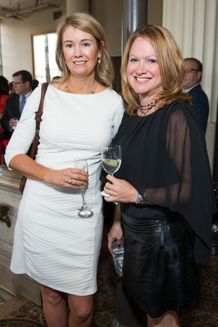 Liz Daniel, left, and Kiki Wilson at the Legacy Luncheon September 2014