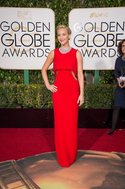 Jennifer Lawrence at Golden Globes