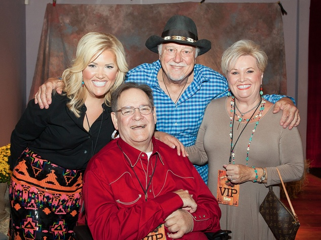 Amanda Boffone, from left, Alan Hardy, Jerry Jeff Walker and Janie Hardy at Two Steppin' with TIRR Concert with Jerry Jeff Walker and Clay Walker October 2014