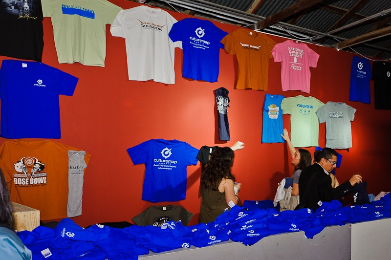 Austin Photo Set: News_Jessica Pages_Launch Party_October 2011_tshirt wall