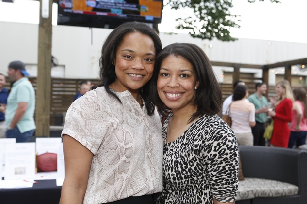 Simone Williams, left, and Jennifer Williams at Friends of DePelchin's Fiesta May 2014