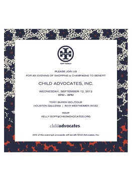 Child Advocates Tory Burch