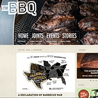 Home page Texas Monthly's new BBQ website: TMBBQ