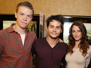 Will Poulter, Dylan O'Brien and Kaya Scodelario from The Maze Runner