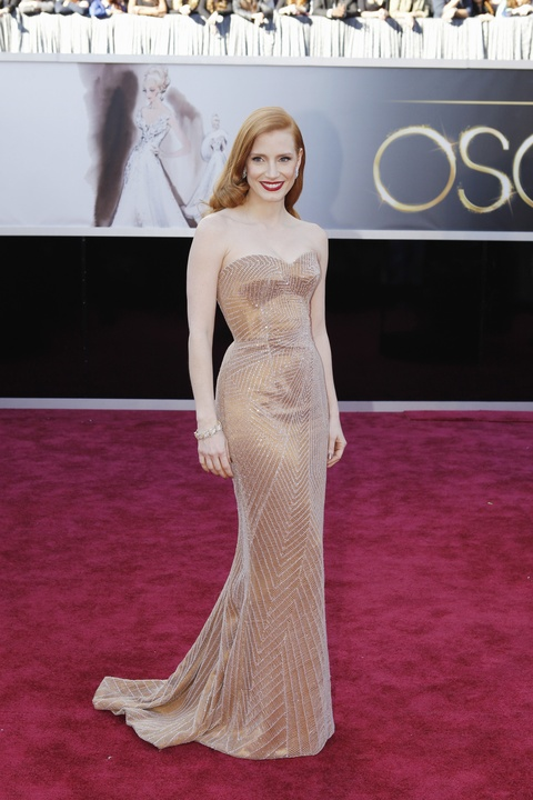 Jessica Chastain, Academy Awards, February 2013