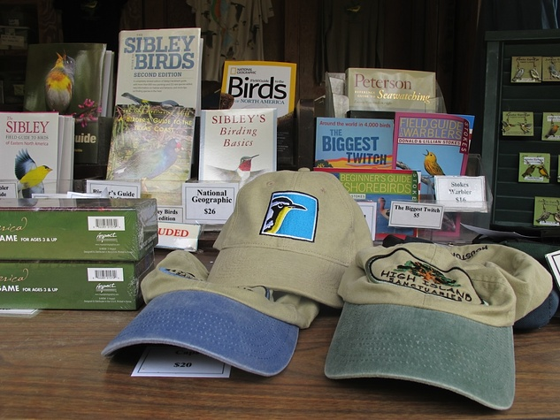 1 Katie Oxford Galveston birds and the oil spill April 2014 Merchandise table at Houston Audubon Bird Sanctuary in High Island