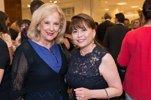 Mary Ann McKeithan, left, and Rini Ziegler at the CAP kick-off at Saks September 2014
