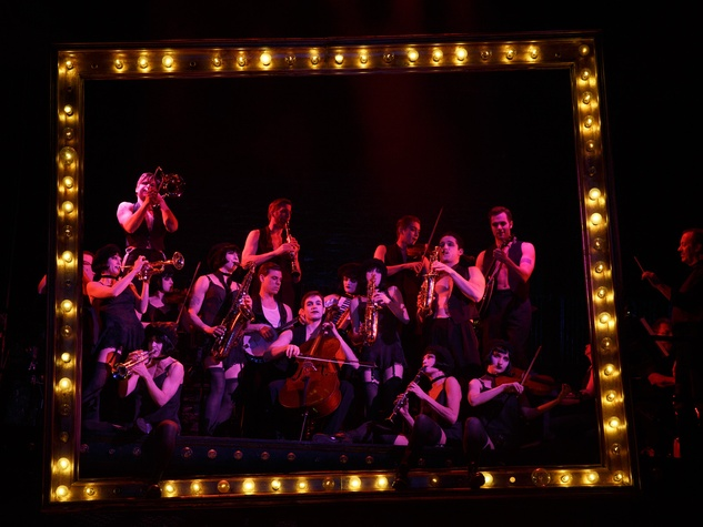Broadway at the Hobby Center January 2015 2014 Broadway Revival of Roundabout Theatre Company's Cabaret pictured The Kit Kat Band